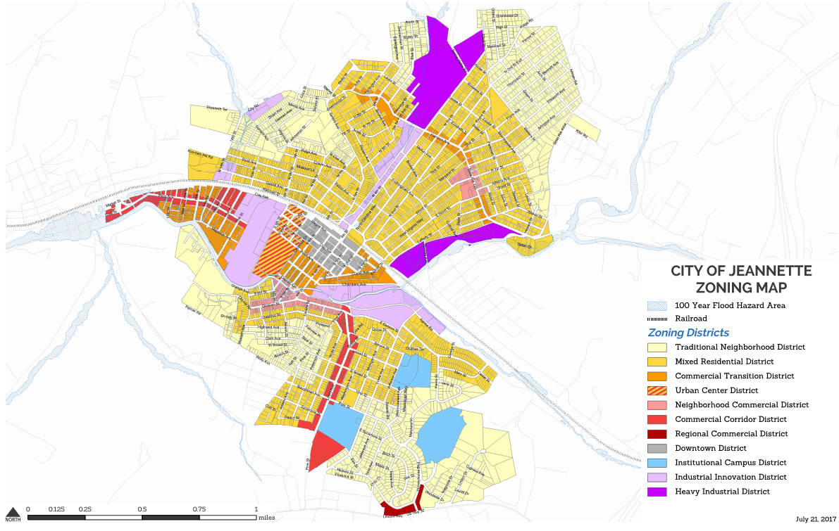 new zoning ordinance and map